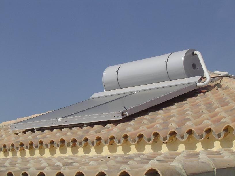Installation thermosiphon sur toiture